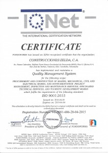 ISO 9001-2015 IQNET (2019)